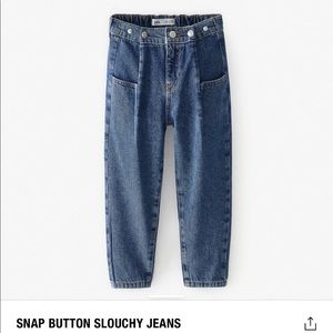 🔥Zara snap button slouch jeans brand new!!🔥
